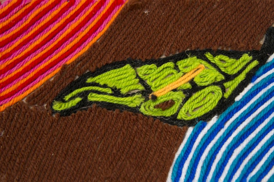 2nd Grade – Huichol YarnPainting