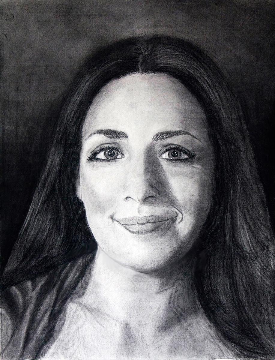 Anita Sagastegui_self-portrait-charcoal