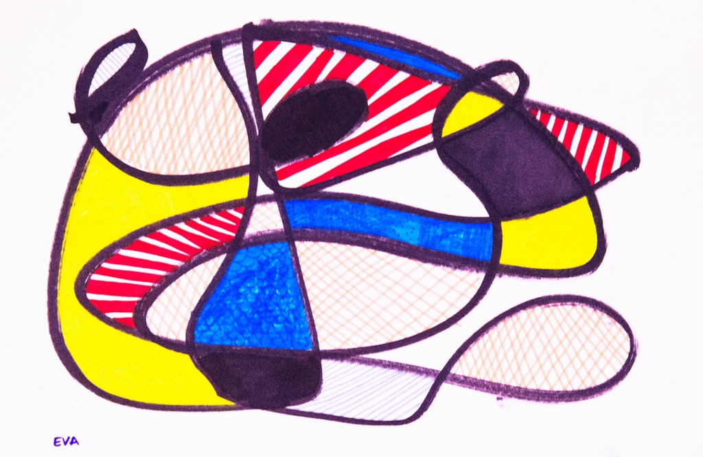 7th Grade - Design inspired by Jean Dubuffet's Hourloupe series