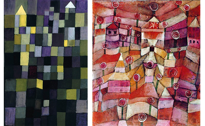 """Architecture"" and ""The Rose Garden"" from Paul Klee's magic square series"