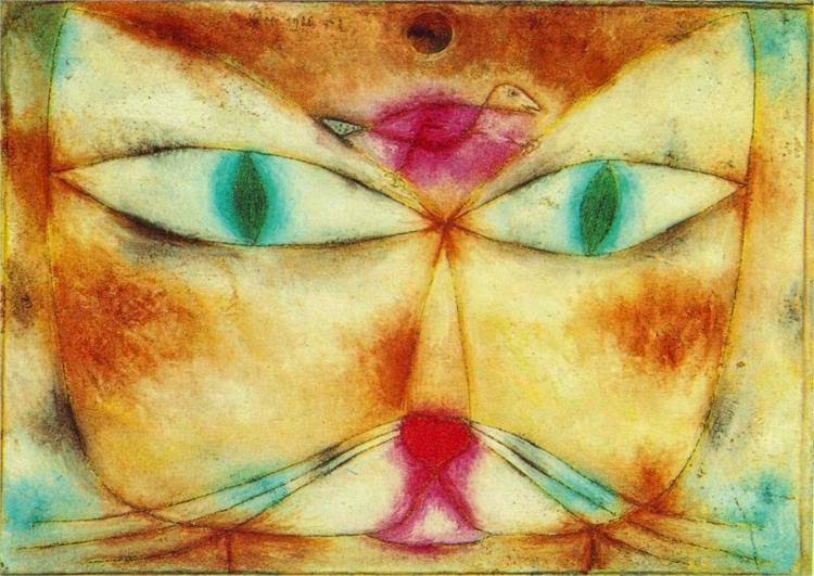 """Paul Klee's painting """"Cat and Bird"""" 1928"""