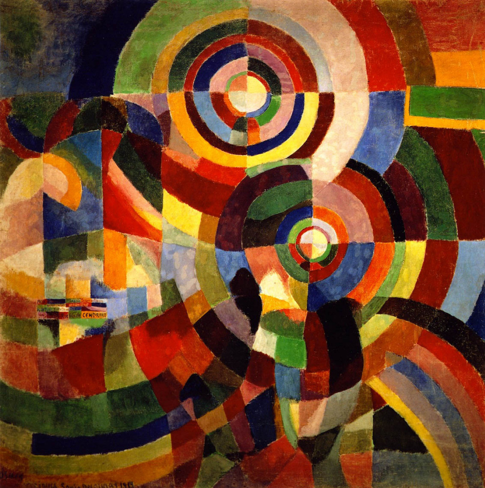 """Sonia Delaunay's painting from 1914, """"Electric Prism"""""""