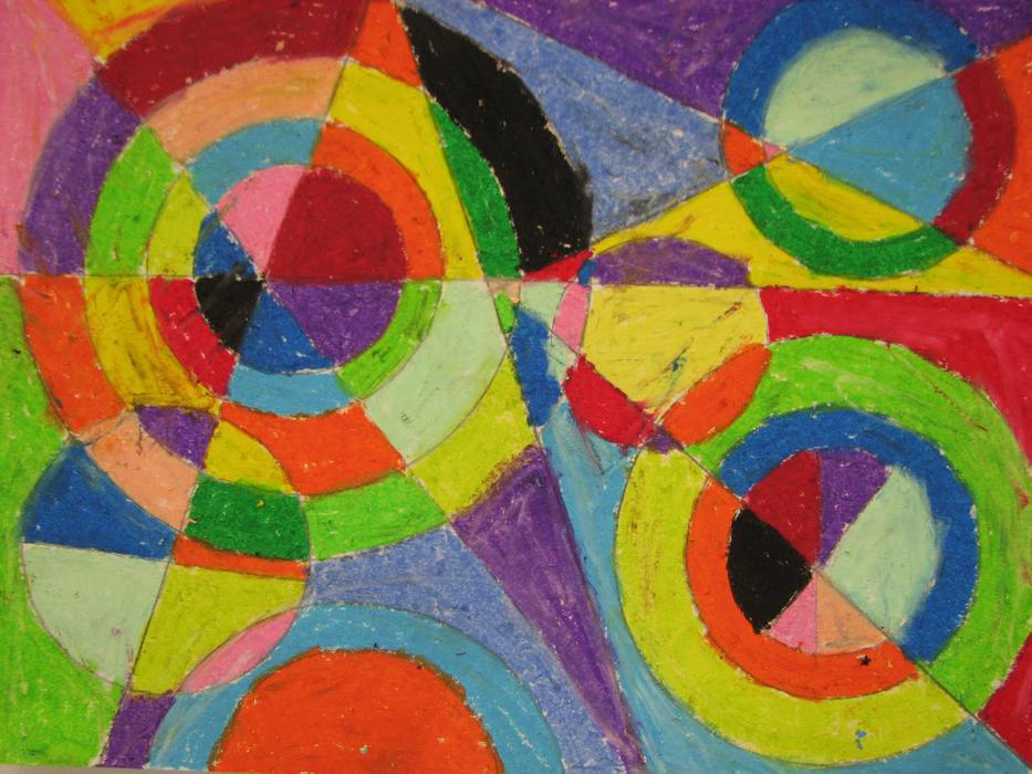 "Robert Delaunay's 1939 illustration, ""Color Explosion"""