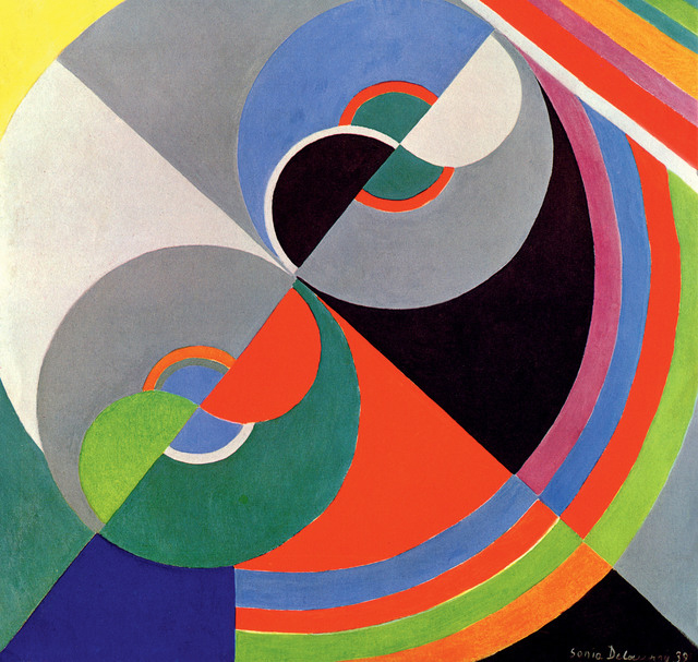 """A 1959 painting by Sonia Delaunay, """"Rhythm in Colour"""""""