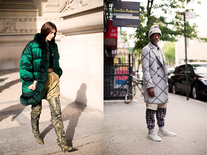 Two images from Scott Schuma's fun fashion blog the Sartorialist