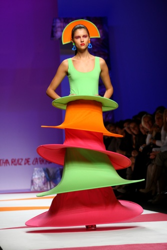 MILAN, ITALY - SEPTEMBER 26:  A model walks the runway during the Agatha Ruiz De La Prada fashion show at Milan Fashion Week Spring/Summer 2009 on September 26, 2008 in Milan, Italy.  (Photo by Vittorio Zunino Celotto/Getty Images)