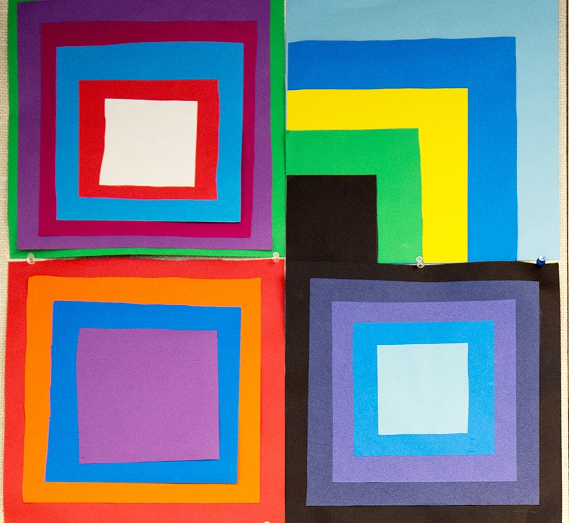 1st Grade – Josef Albers' Homage to the Square