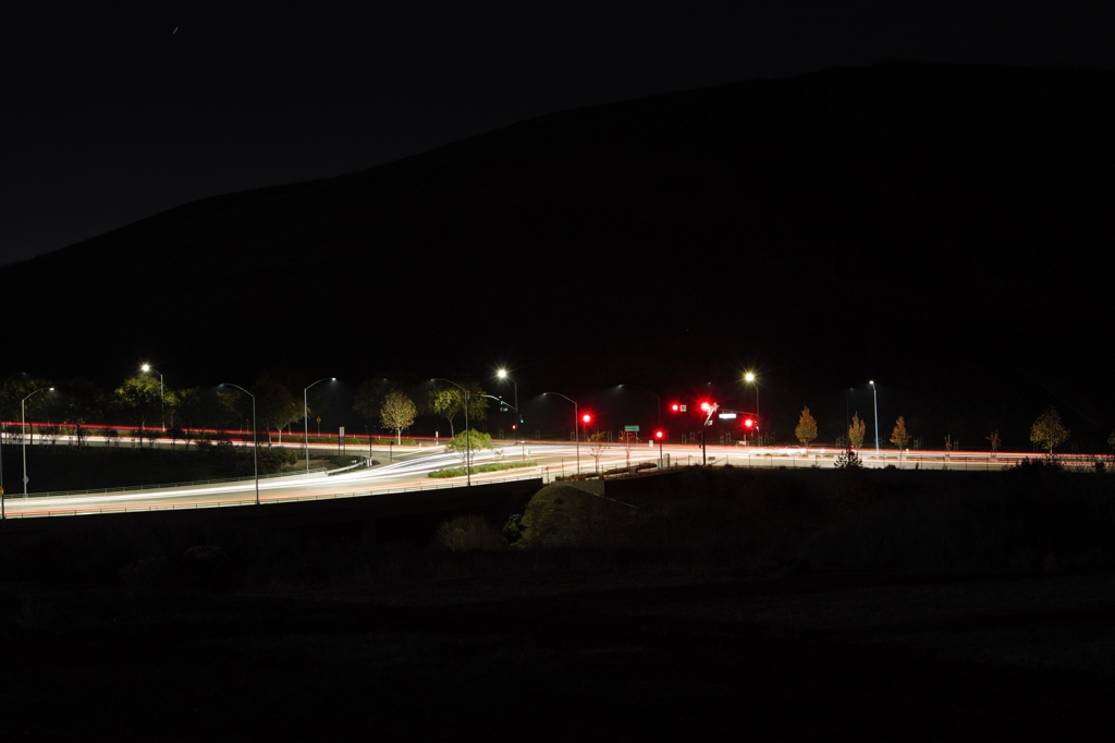 Another student's nighttime shots of blurred car lights