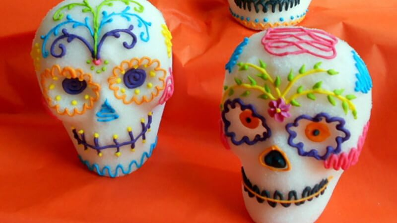 Mexican Day of the Dead sugar skulls