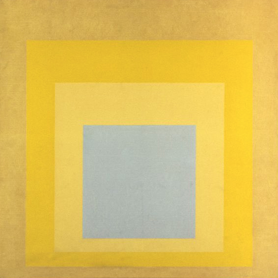 """With Rays"" - 1959, from Albers' Homage to the Square series"
