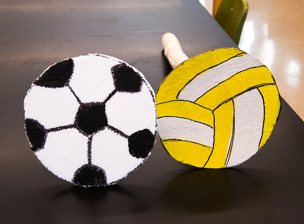 Rather than using a real soccer or volleyball, students thought it would be more fun to make them.