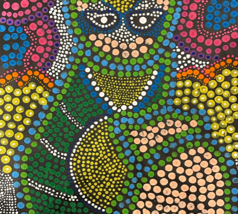 5th Grade – Dot Painting inspired by AustralianAborigines