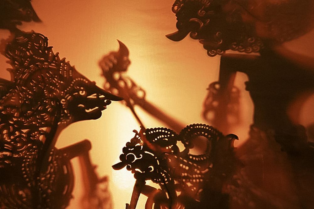 A photographic example of Wayang Kulit, the fascinating shadow puppet theater of Indonesia